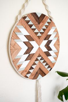 PUEBLO Holz Wandkunst - Makramee Wandbehang - Boho Holzkunst - Runde Holzwand Kunst - moderne Holz Ar - DIY home decor deko Deko flur Deko bilderrahmen Wooden Wall Art, Wooden Walls, Wall Wood, Woodworking Patterns, Woodworking Projects, Woodworking Store, Woodworking Classes, Woodworking Workbench, Arte Robot