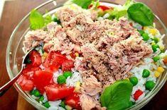 TONNIKALASALAATTI - Kotikokki.net - reseptit Meatloaf, Fried Rice, Mashed Potatoes, Fries, Pasta, Beef, Baking, Ethnic Recipes, Koti