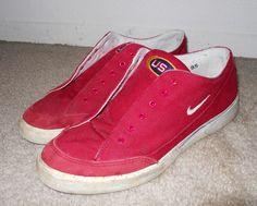 RARE vintage 1996 Olympics USA Team Nike Red Canvas GTS sz 9.5 flag #Nike #AthleticSneakers