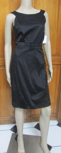 Calvin Klein Black Classic Belted Sleeveless Dress Sizes 6 or 8 NWT #CalvinKlein #Sheath #WeartoWork