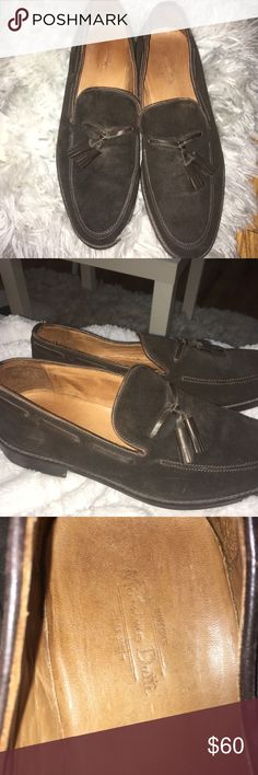 Brown Men's Dress Shoes With Tassel Good condition brown suede men's work shoes. Small subtle scratches but not noticeable. Price is negotiable Massimo Dutti Shoes Loafers & Slip-Ons