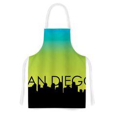 Kess InHouse Kess Original 'San Diego' Blue Artistic Apron