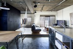 The real Japanese studio apartment loft design style can act as an inspiration for those who prefer the convenience and comfort, the modern view of life Cabin Design, Loft Design, House Design, Japan Interior, Japanese Interior Design, Workspace Design, House Rooms, Home Living Room, Home Fashion