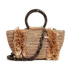 Trendy Women's Bags : Picture Description corallina ring tote by Carolina Santo Domingo. Fabric: Woven raffia Frayed trim Circular top handles Magnetic closure at top Zip interior pockets Removable straps Lined Dust bag included Weight: 14oz / 0.4kg Made in Italy Measurements... - #Bags https://glamfashion.net/fashion/bags/trendy-womens-bags-corallina-ring-tote-by-carolina-santo-domingo-fabric-woven-raffia-frayed-trim/