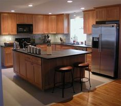 Dynasty Shaker Red Birch with Soapstone countertops
