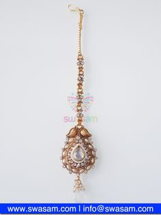 Indian Jewelry Store | Swasam.com: Tikka with Perls and White Stones - Tikka - Jewelry Shop to Buy The Best Indian Jewelry  http://www.swasam.com/jewelry/tikka/tikka-with-perls-and-white-stones-1380.html?___SID=U  #indianjewelry #indian #jewelry #tikka