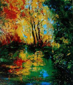 """Saatchi Online Artist: Pol Ledent; Oil, 2012, Painting """"pond 256"""""""