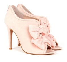 Blush Pink Bow detailed Ladies Heels *LOVE* #women #shoes #high #heels #sandals #pink #ladies #footwear