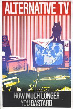 Silkscreened poster for the wonderful second ATV single.