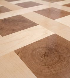 Weldon - Parquet floor end-grain contrast