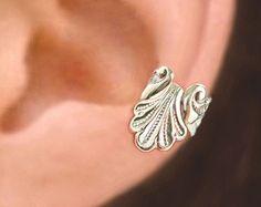 Iris Wave ear cuff Sterling Silver earrings Iris by RingRingRing