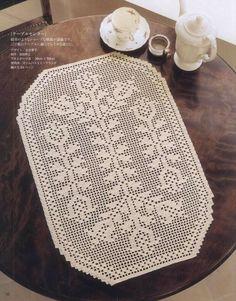 Crochet Lace NV70028 2012 — Yandex.Disk Lace Doilies, Crochet Doilies, Crochet Lace, Crochet Hooks, Baby Booties Knitting Pattern, Knitting Patterns, Crochet Patterns, Crochet Placemats, Crochet Table Runner