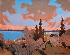 """Robert Genn, On a Solemn Afternoon, Lake of the Woods"""" original landscape paintings at White Rock Gallery"""