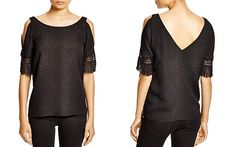 Cooper & Ella Willow Fringed Snakeskin-Print Top