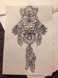 Dream catcher tattoo that I drew ❤️