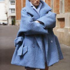 #carven oversize pastel coat