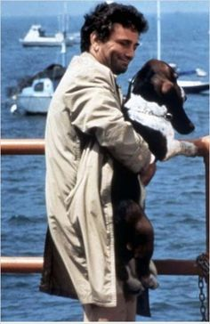 Peter Falk as Detective Columbo and his Dog named Dog