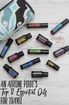 An Airline Pilot's Top 12 Essential Oils for Travel-- travel-tested, Mom-approved. Perfect for kids, adults, people traveling for work or on vacation!