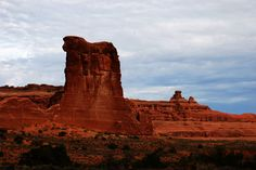 Sheep Rock from Courthouse Towers, Arches National Park, with East-West Global Tours