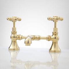 New+York+Widespread+Bathroom+Faucet+-+Small+Porcelain+Cross+Handles ...