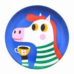 Helen Dardik melamine eetbord zebra #Melamine #Plate #Sebra by @helendardik from http://www.kidsdinge.com      https://www.facebook.com/pages/kidsdingecom-Origineel-speelgoed-hebbedingen-voor-hippe-kids/160122710686387?sk=wall  http://instagram.com/kidsdinge