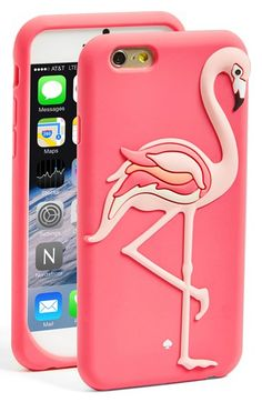 kate spade new york 'flamingo' iPhone 6 silicone case available at #Nordstrom