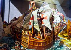 """How Columbus Discovered America."" 'Pop-Ups From Prague' Celebrates Czech pop-up book artist Vojtech Kubasta - NYTimes.com"