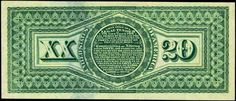 "United States Notes - 1869 Twenty Dollar Legal Tender Note ""Rainbow Notes"""