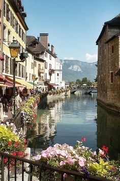 Annecy, known as the Venice of the Alps, France. I visited Annecy July such a beautiful place! Places Around The World, Oh The Places You'll Go, Places To Travel, Places To Visit, Travel Destinations, Dream Vacations, Vacation Spots, Vacation Travel, Vacation Rentals