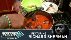 Seahawk Richard Sherman Creates Meatball Gushers  Good lord help him find a cook besides his brother