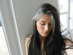 long grey hair More