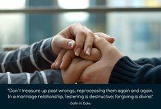 festering is destructive; forgiving is divine