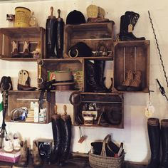 We don't think we've ever seen such a beautiful display in a tack shop ever before! #gorgeous #equestrian #interiors