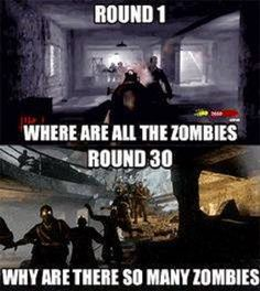 Game Assault Social Feed: Round 1, Where the Zombies? Round 30 Why are there so many Zombies?