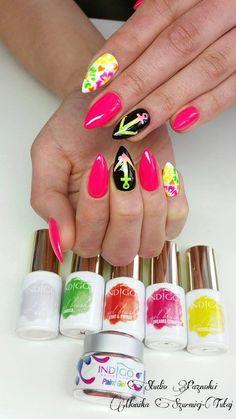 by Monika Szurmiej Tutaj - Follow us on Pinterest. Find more inspiration at www.indigo-nails.com #nailart #nails #indigo #spring