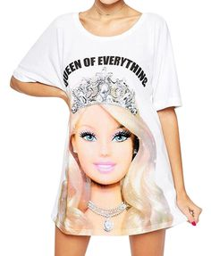 Queen Printed Tee Dress