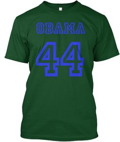 President Barack Obama 44 Us T Shirt Forest Green  áo T-Shirt Front