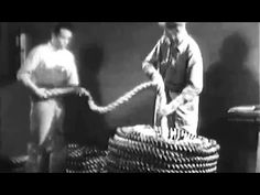 Rope: Use and Care of Fiber Rope 1944 US Navy Training Film; Shipbuilding-Rigging: http://youtu.be/QL2YWYHP92w #rope #rigging #sailing