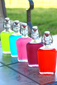 Jolly Rancher Vodka is one of the easiest and quickest candy liquor infusions you can make, and this Candy Alcohol Drinks, Liquor Drinks, Alcohol Drink Recipes, Vodka Drinks, Cocktail Drinks, Alcoholic Drinks, Summer Cocktails, Party Drinks, Yummy Drinks