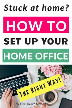 Stuck at home? Need to work from home? Then learn how to set up your home office correctly to be efficient productive and healthy! Amazon Work From Home, Work From Home Moms, Make Money From Home, How To Make Money, Home Office Setup, Home Office Organization, Organizing, Office Ideas, Office Workspace
