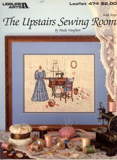 The Upstairs Sewing Room cross stitch pattern by Paula Vaughan | Craft Book by breezysbooks on Etsy