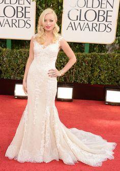 GOLDEN GLOBES 2015 - Francesca Eastwood - Vestido de renda