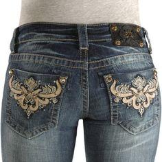 Miss Me Jeans #Miss_Me_Jeans #fashion #blue_jeans #love Miss Me Jeans - Emebellished Pocket Skinny Jeans