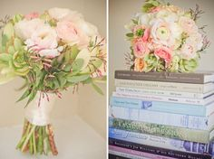 #Ranunculus, succulents, leucadendron, and jasmine   #Weddings