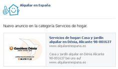 Nuevo anuncio en Servicios de hogar http://www.alquilarenespaña.es/es/alquilar/servicios-de-hogar/casa-y-jardin/