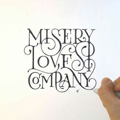 Beautifully smooth swash lettering