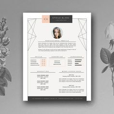 Design Resume Template 5 Page Resume Template  Ultra Chictheresumeboutique On