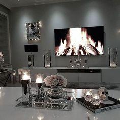50+ Amazing TV Table Design Furniture Ideas_46