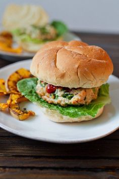 These spinach and feta turkey burgers are quick and easy to prepare and taste delicious grilled and served with your favorite burger toppings.