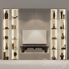 3d models: TV Wall - tv set 123 Tv Wall Decor, Wall Tv, Hanging Tv On Wall, Tv Wall Cabinets, Modern Tv Wall Units, Neoclassical Interior, Living Room Tv Unit Designs, Modern Home Interior Design, Tv Wall Design